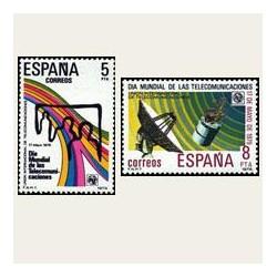 1979 Sellos de España (2522/23). Día Mundial de las Telecomunicaciones.