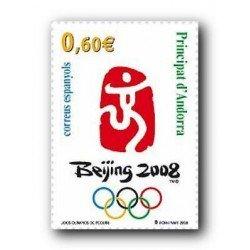 2008 Sellos Andorra Español. JJ.OO. Beijing 2008 (Edifil.358)**