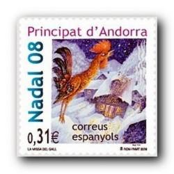 2008 Sellos Andorra Español. Navidad (Edifil.361)**