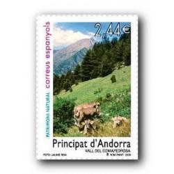 2008 Sellos Andorra Español. Patrimonio Natural (Edifil 359)**