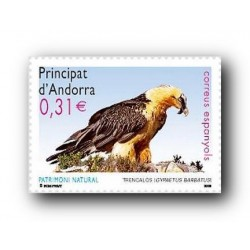 2008 Sellos Andorra Español. Patrimonio Natural - Quebrantahuesos (Edifil 352