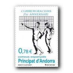 2008 Sellos Andorra Español. Sociedad Andorrana de Ciencias (Edifil 356)**