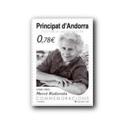 2009 Sellos Andorra Español. Mercè Rodoreda (Edifil 364)**