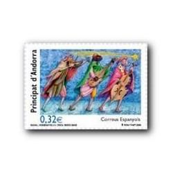 2009 Sellos Andorra Español. Navidad (Edifil 371)**