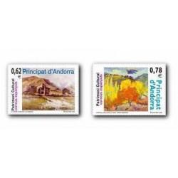 2009 Sellos Andorra Español. Patrimonio Cultural (Edifil 369/70)**
