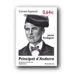 2010 Sellos Andorra Español. (Edifil 373). Jacinto Verdaguer **