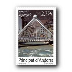 2010 Sellos Andorra Español. (Edifil 374). Puente de París **