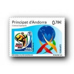 2010 Sellos Andorra Español. (Edifil 377). Copa Mundial FIFA **