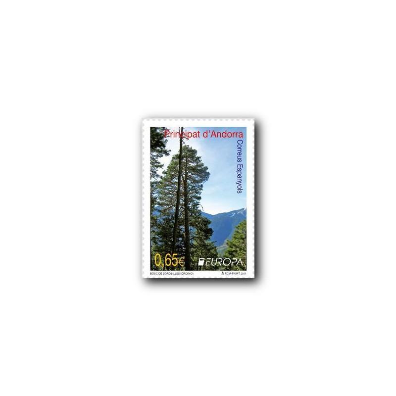 2011 Sellos Andorra Español. (Edifil 382). Personajes **