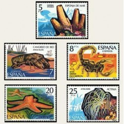 1979 Sellos de España (2531/35). Fauna. Invertebrados.