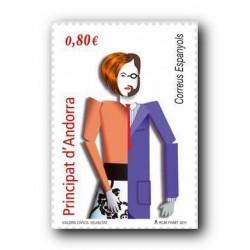2011 Sellos Andorra Español. (Edifil 386-7). Bienal de Venecia **