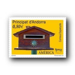 2011 Sellos Andorra Español. (Edifil 389). América UPAEP **
