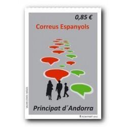 2012 Sellos Andorra Español. (Edifil 398). Valores Cívicos **