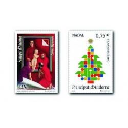 2013 Sellos Andorra Español. (Edifil 410-11). Navidad **