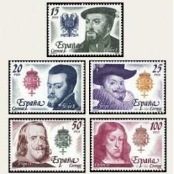 1979 Sellos de España (2552/56). Reyes de España. Casa de Austria.
