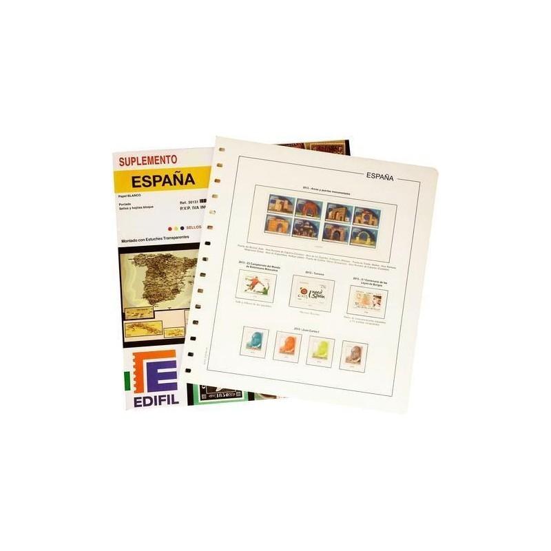 Suplemento Anual Edifil España 2002 sólo Sellos y Hojas Bloque
