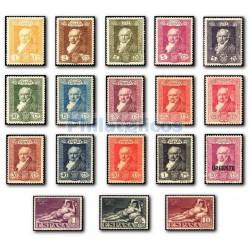 1930 Sellos de España. Quinta de Goya (Edifil 499/516) **