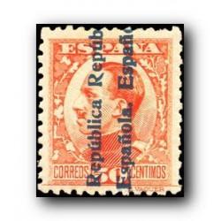 1931 España. Alfonso XIII sobrecargados. (Edifil 601) **