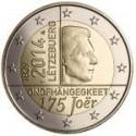 Moneda 2 euros conmemorativa. Luxemburgo 2014 Independencia