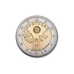 "Moneda 2 euros conmemorativa. Portugal 2014 ""25 de abril"""