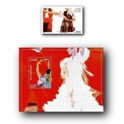 2009 Sellos de España. Bailes y Danzas. La Isa y la Sevillana. (Edif. 4485/