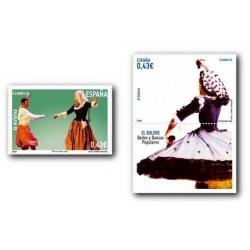 2009 Sellos de España. Bailes y Danzas. El Bolero y la Mateixa. (Edif. 4489