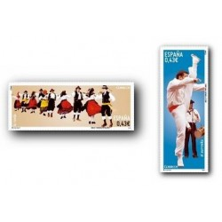 4492/3** Sellos de España 2009. Bailes y Danzas. El Aurresku y la Rueda.