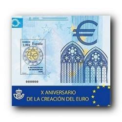 2009 Sellos de España. X Aniv. del Euro. (Edif. 4496)**