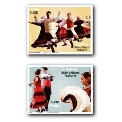 2009 Sellos de España. Bailes y Danzas. Muñeira y Fandango. (Edif. 4501/02)