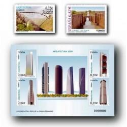 4505/7** Sellos de España 2009. Arquitectura.