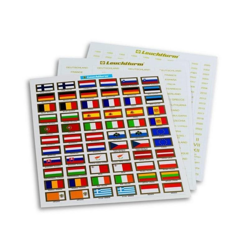 Etiquetas Set para monedas de euro