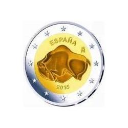 Moneda 2 euros conmemorativa. España 2015 Altamira
