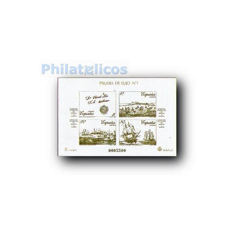 1987 Prueba Lujo 1/2. Exp. Filatélica. ESPAMER´87