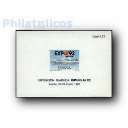 1987 Prueba Oficial 11. Exp. Universal de Sevilla Expo´92. (Edifil 11)