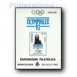 1992 Prueba Oficial 26. Serie Olímpica de Barcelona´92. OLIMPHILEX´