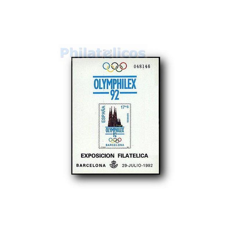 1992 Prueba Oficial. Serie Olímpica de Barcelona´92. OLIMPHILEX´