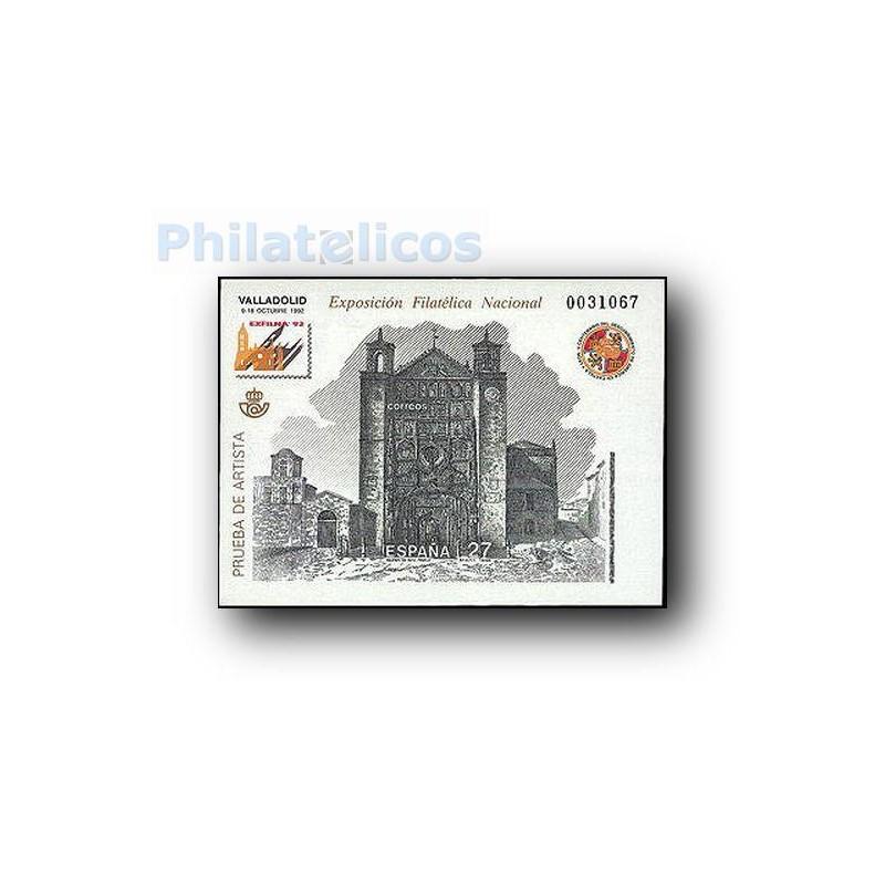 1992 Prueba Oficial. Exposición Filatélica Nacional EXFILNA´92