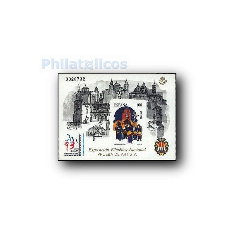 1993 Prueba Oficial. Exposición Filatélica Nacional EXFILNA´93