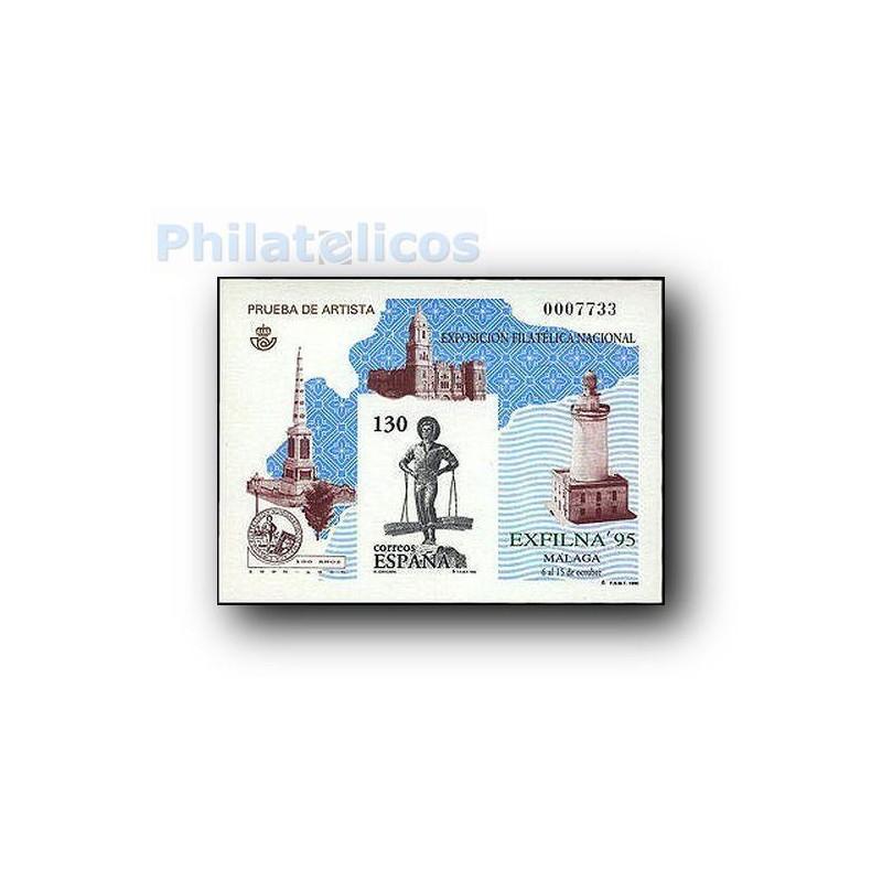 1995 Prueba Oficial. Exposición Filatélica Nacional. EXFILNA´95