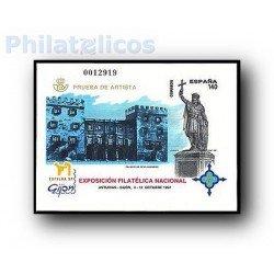 1997 Prueba Oficial 64. Exposición Filatélica Nacional. Exfilna´97
