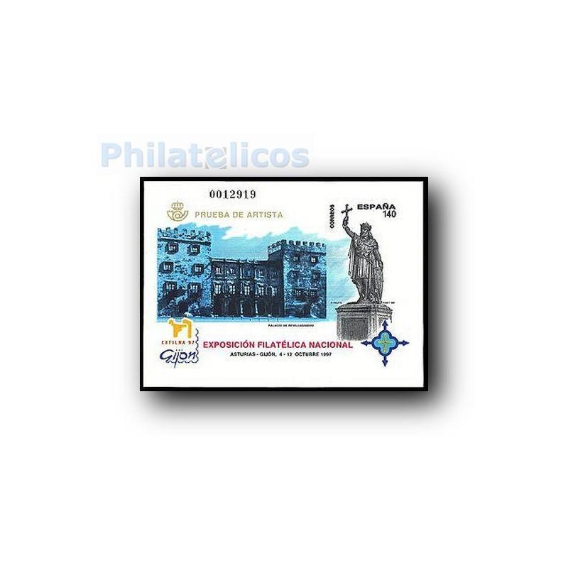 1997 Prueba Oficial. Exposición Filatélica Nacional. Exfilna´97