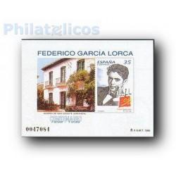 1998 Prueba Oficial 65. Centenarios. Federico García Lorca