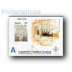 2000 Prueba Oficial 72. Exposición Filatélica Nacional. Exfilna´200