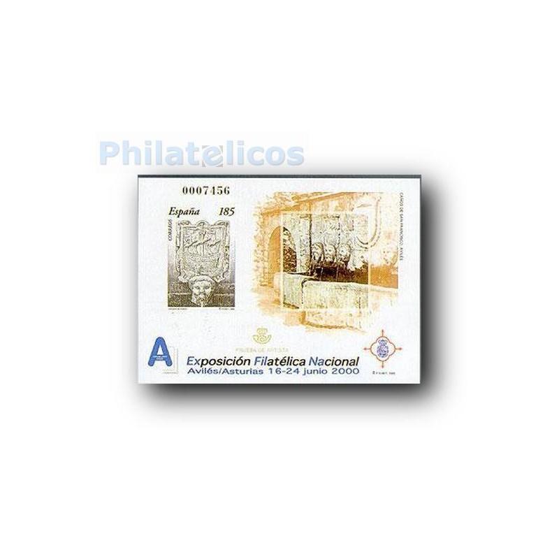2000 Prueba Oficial. Exposición Filatélica Nacional. Exfilna´200