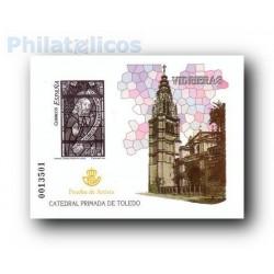 2004 Prueba del Artista. Vidrieras Catedral Primada de Toledo.