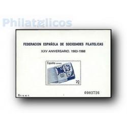 1988 Prueba Oficial 15A. EXFILNA '88. (Edifil 15A)