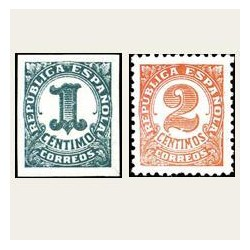 1933 Cifras. Edif.677/78 *