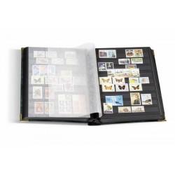 Clasificador de sellos Leuchtturm COMFORT DELUXE 64 páginas negras