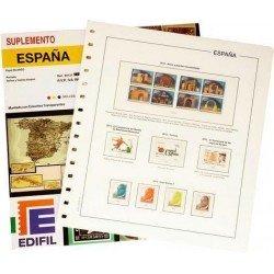 Juego de Hojas Edifil España 2002/2005 solo sellos y hojas bloque