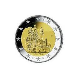 Moneda 2 euros conmemorativa. Alemania 2012 (5 cecas)